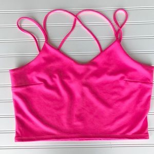 NWT Express Hot Bright Pink Crop Top, Size L